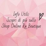 Ra Boutique Spedizione? Shopping low cost in 24/48h in Sicurezza